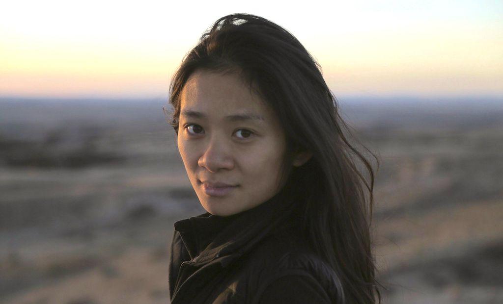Chloé Zhao posing